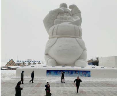 Harbin welcomes new year with army of snowmen